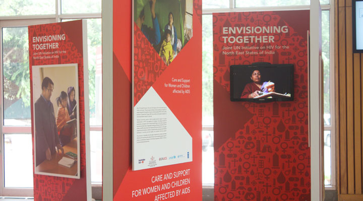 Display Identity + Environment Graphics + Signage Concept & Design + Production + Project Management & Implementation For UNAIDS at India International Centre, New Delhi