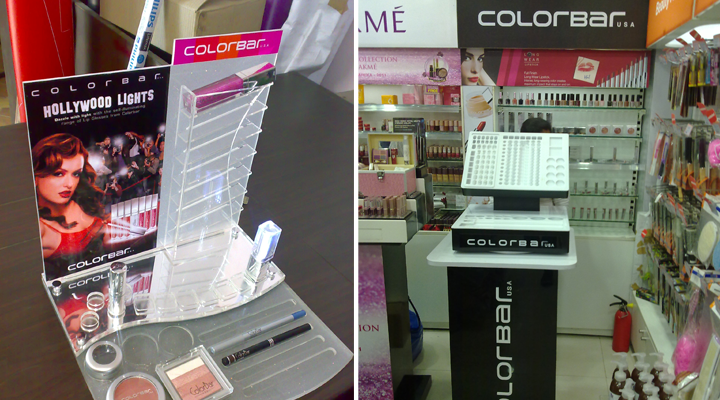 Retail Display Identity + Retail Branding and Signage Concept & Design + Production + Project Management & Implementation + Point of Sale Experience Colorbar
