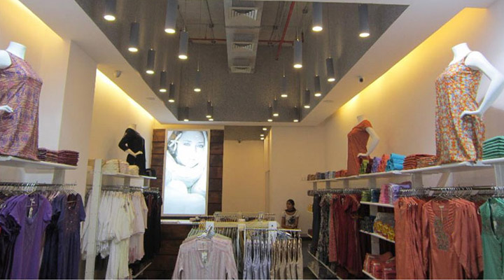 Retail Environment & Engineering Design + In-Store Communication & Signage + Production + Project Management and Implementation for Wh at Elante Mall, Chandigarh