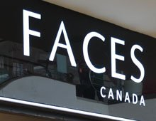 Faces Canada – Store Design