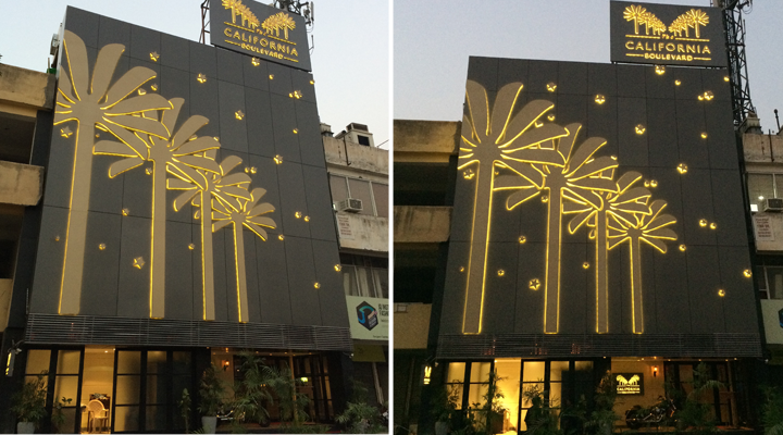 Signage Material Planning & Engineering + Production + Implementation, The California Boulevard, Gurgaon