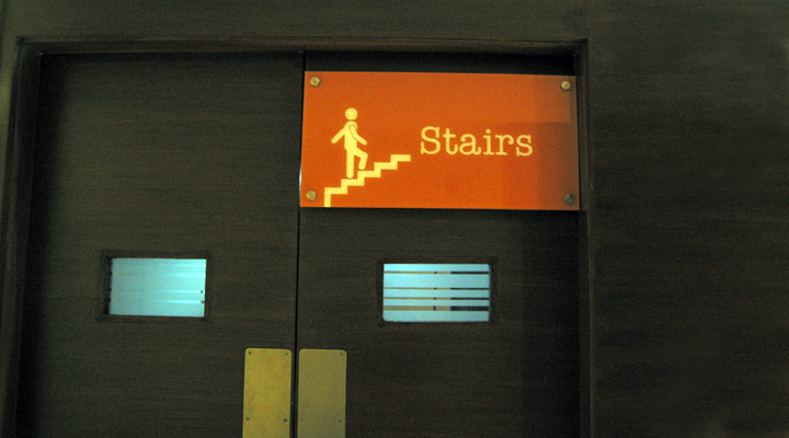 Staircase Sign