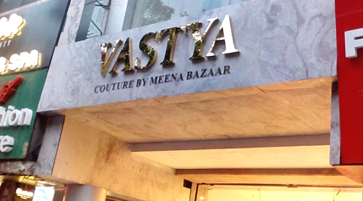 Signage + Material Planning + Engineering + Production + Project Management and Implementation For Vastya , GK I New Delhi