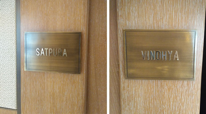 Brass letters on Bronze Plaque