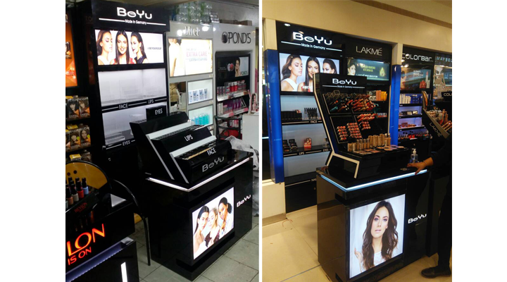 BeYu Wall Units and Counter Display