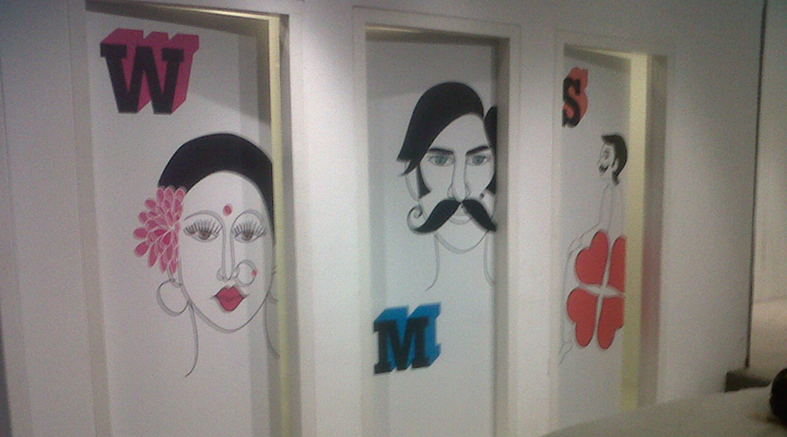 Signage Elements + Environmental Graphics + Production & Implementation For Apeejay Arts